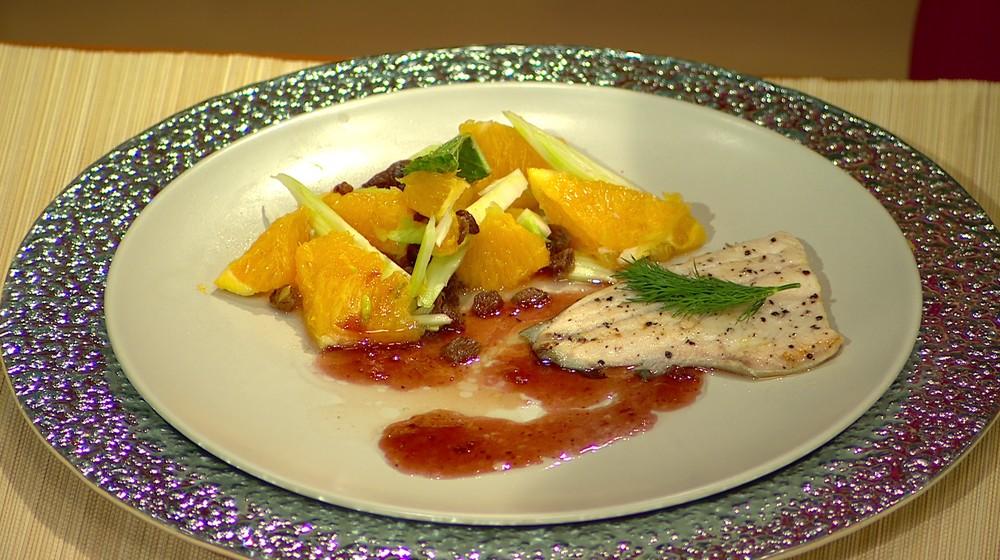 Moja mama - recepty - Pstruh s feniklovo-pomarančovým šalátom