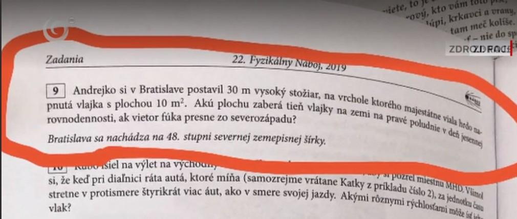 FOTO: Andrej Danko sa dostal do príkladov z fyziky. Študenti riešili aj jeho stožiar