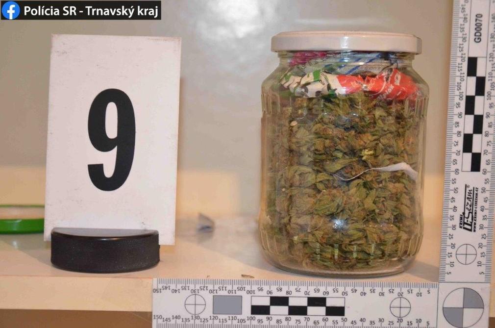 FOTO: Poriadny úlovok polície. V Šoporni zaistili viac ako 800 dávok drogy