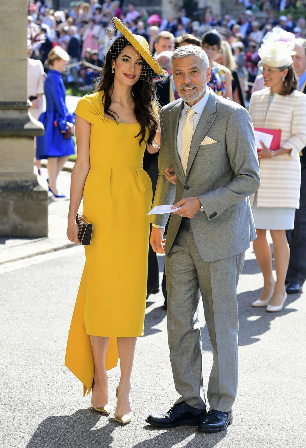 George Clooney a Amal svadba princa Harryho a Meghan