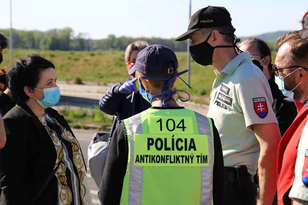 Protest na hraničnom prechode Berg