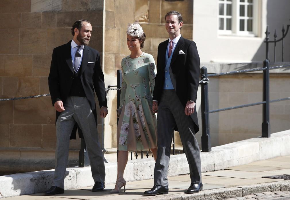 Pippa s bratom a manželom