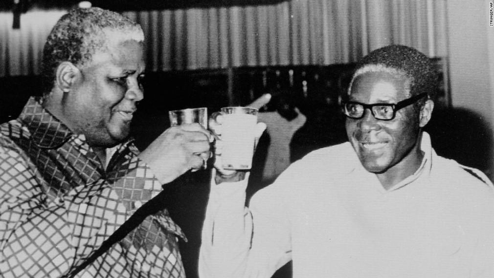 Joshua Nkomo vodca ZAPU a Robert Mugabe, 1978
