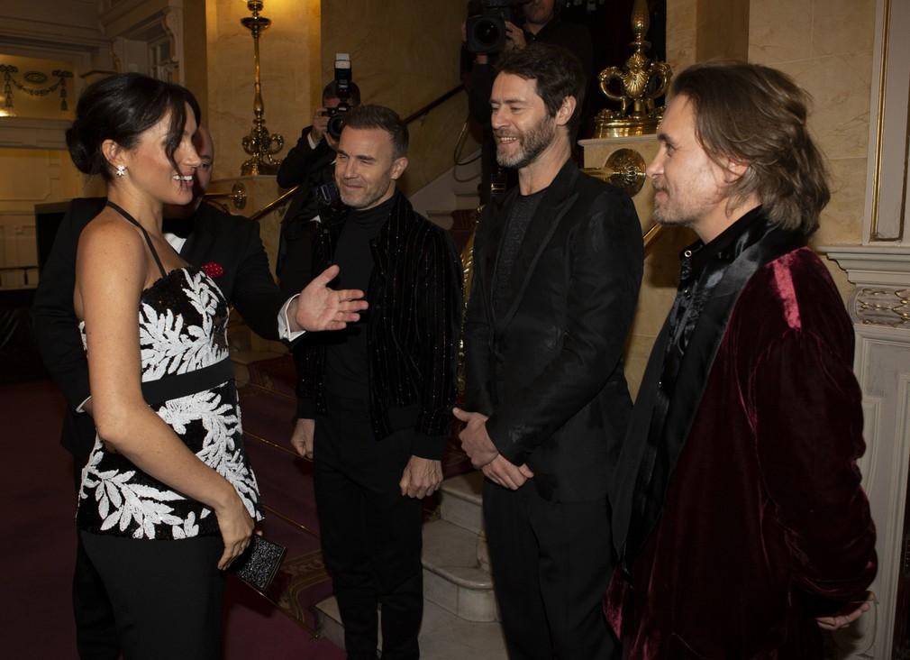 Meghan a skupina Take That