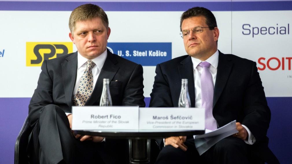 Robert Fico, slovenský premiér, Maroš Šefčovič, slovenský eurokomisár