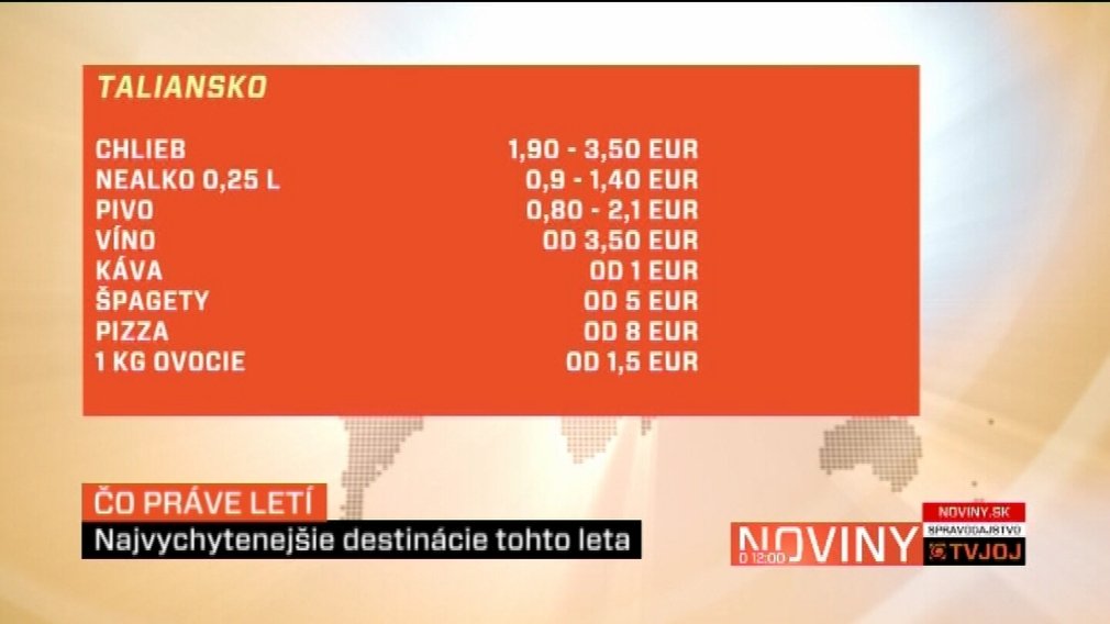 Ceny potravín_Taliansko_leto 2011