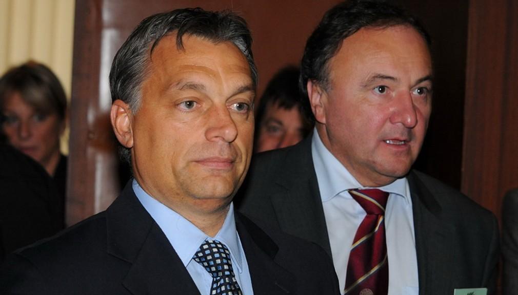 podpredseda Európskej ľudovej strany a predseda strany FIDESZ Viktor Orbán a predseda SMK Pál Csáky