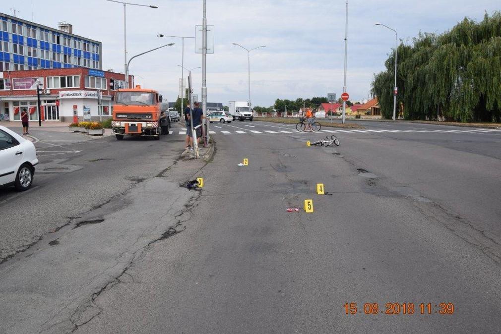 Nehoda, Michalovce, priechod pre chodcov
