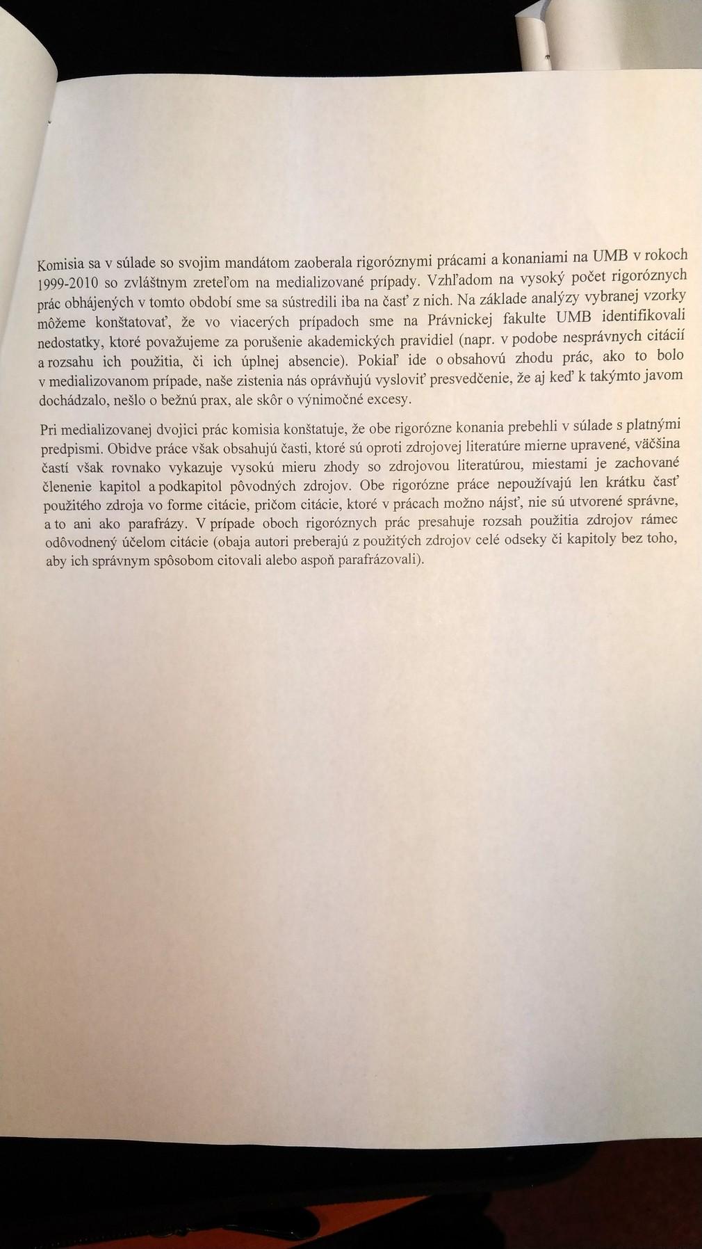Vyhlásenie Akademického senátu UMB k Dankovej rigoróznej práci