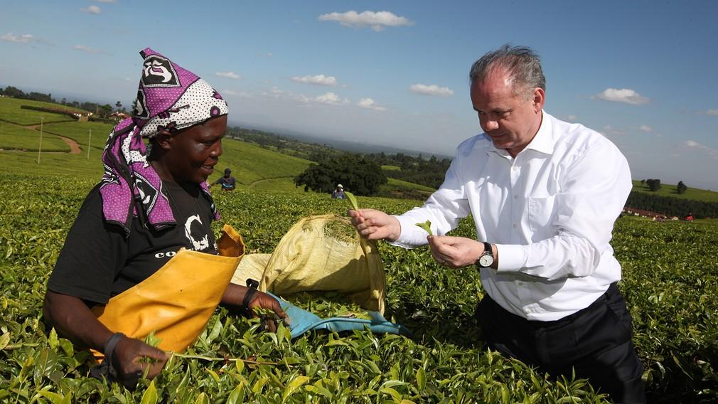 Andrej Kiska v Keni