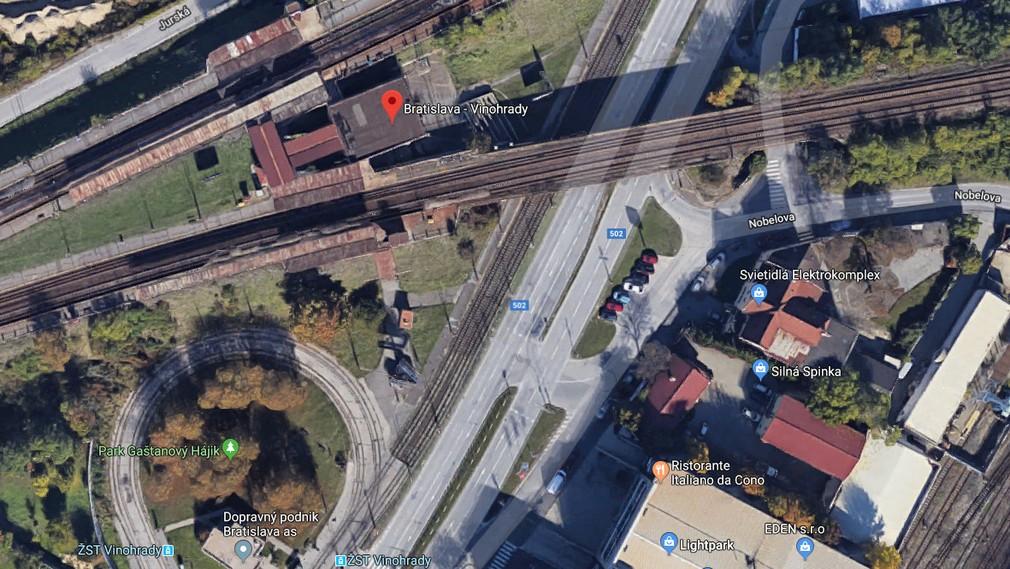Nehoda pri železničnej stanici Vinohrady