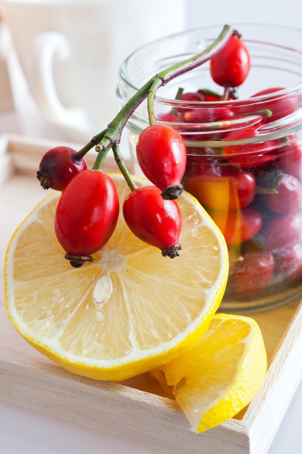 šípky, vitamín C