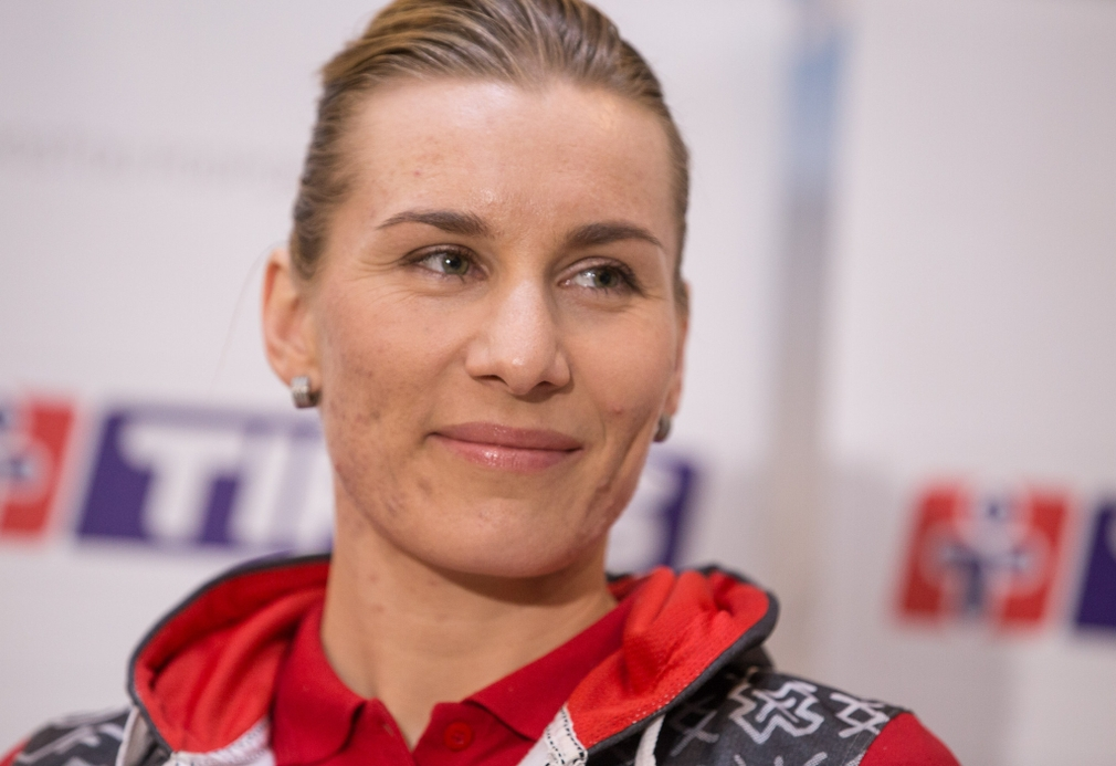 Slovenská biatlonistka Anastasia Kuzminová po návrate zo ZOH 2018 v juhokórejskom Pjongčangu, kde získala jednu zlatú a dve strieborné medaily