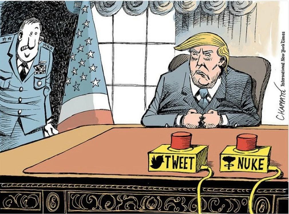 Karikatúra Donalda Trumpa