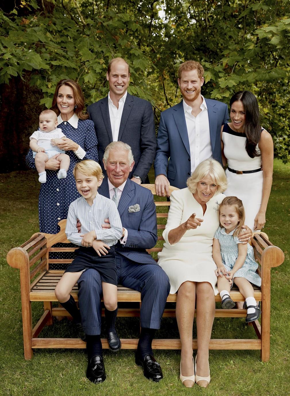 Princ Charles s rodinou