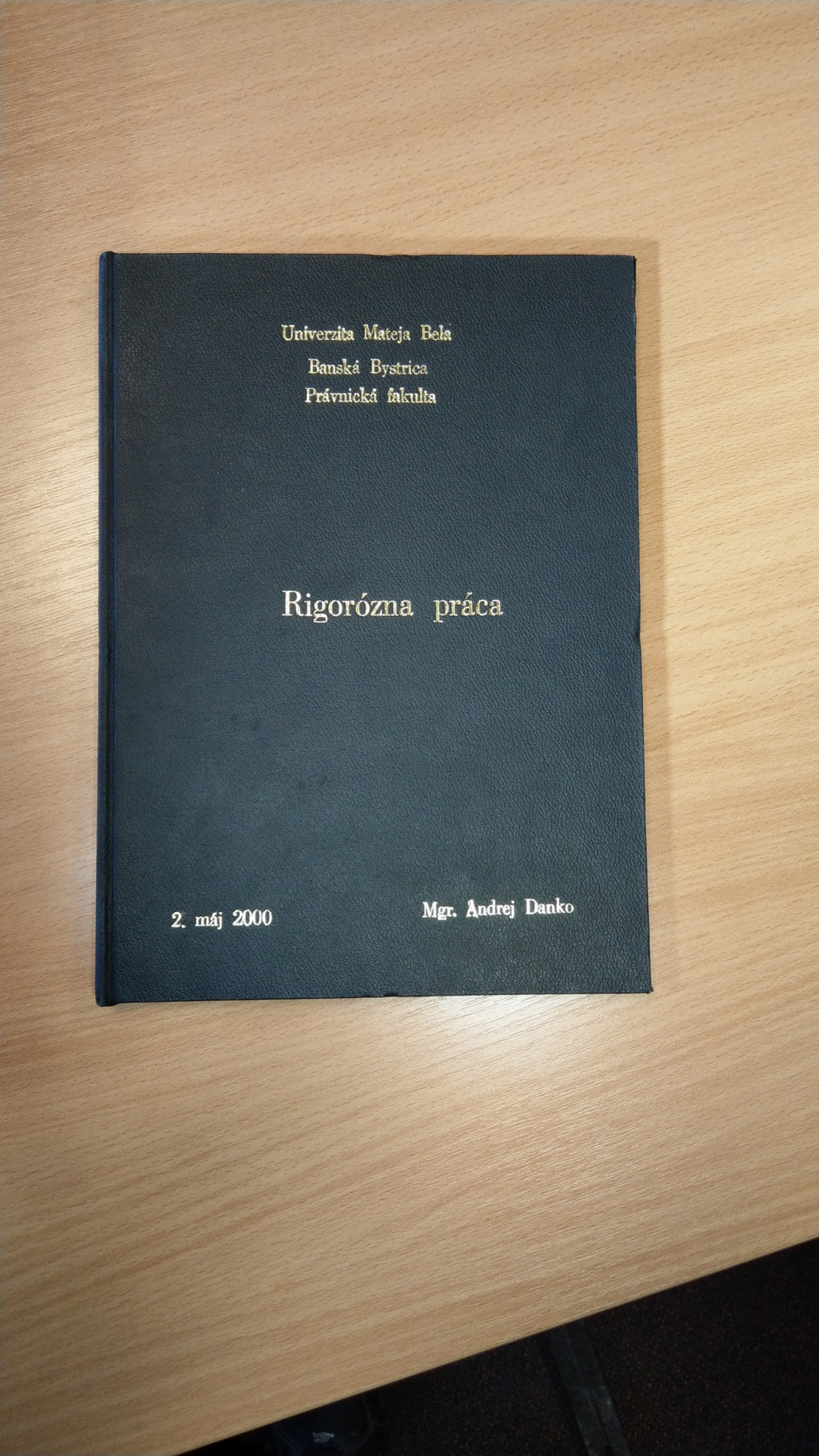 Rigorózna práca Andreja Danka je zverejnená