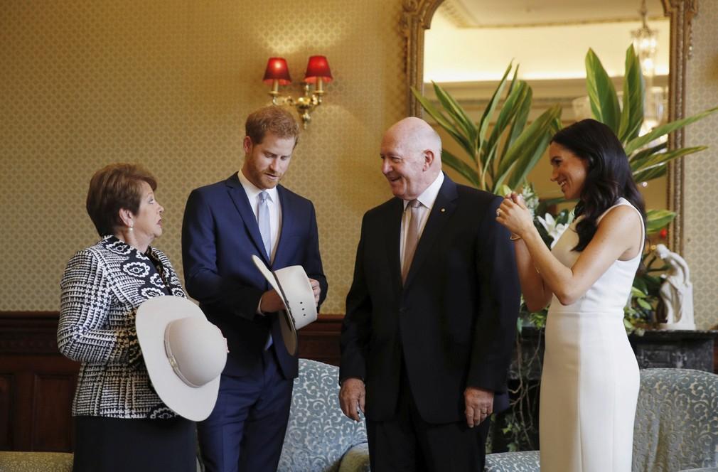 Kráľovský pár v Austrálii