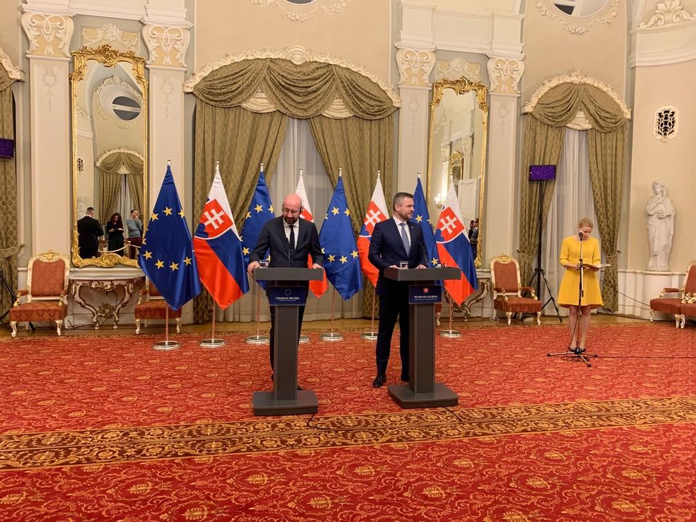 Pellegrini privítal nového šéfa Európskej rady Michela.