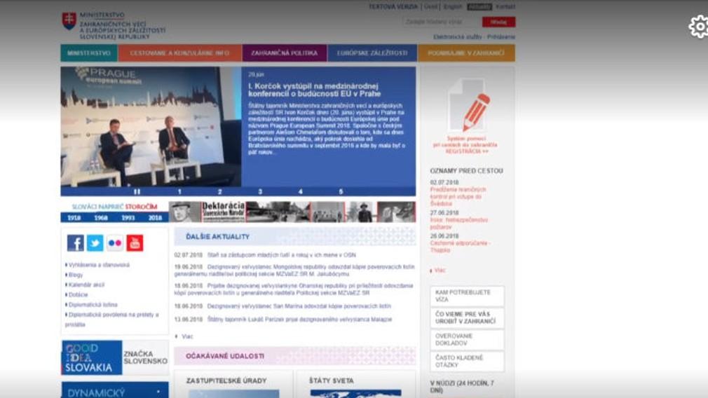 stránka MZV