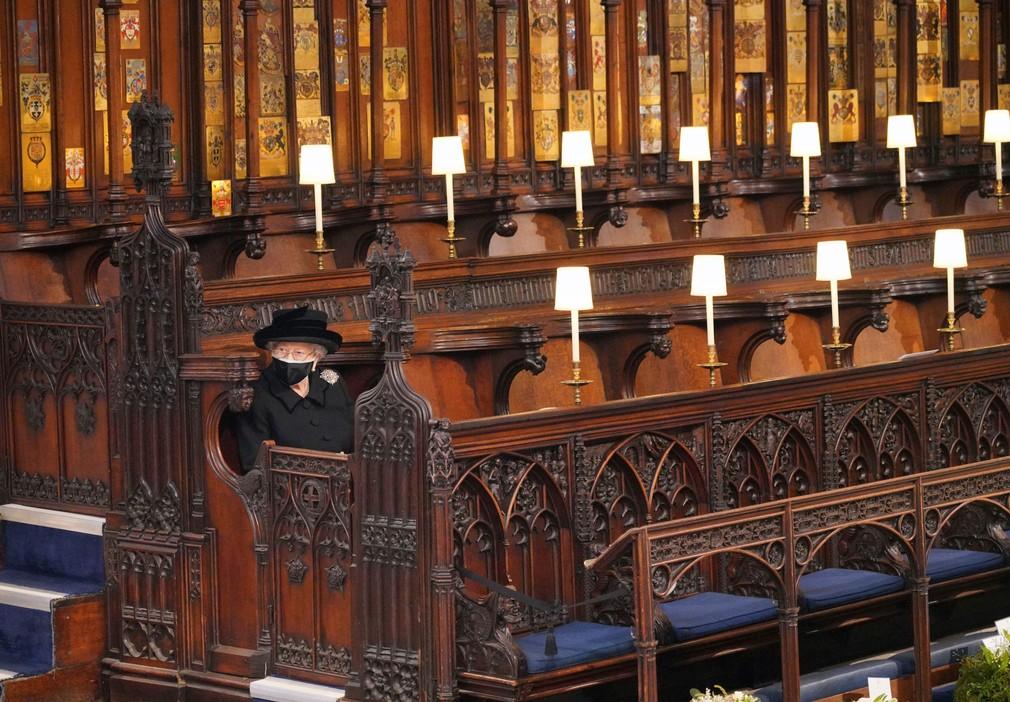 Pohreb princa Philipa, kráľovná