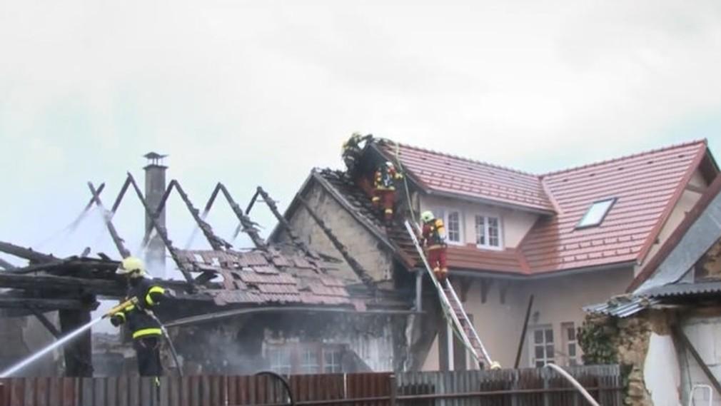 Ničivý požiar pri Brezne.