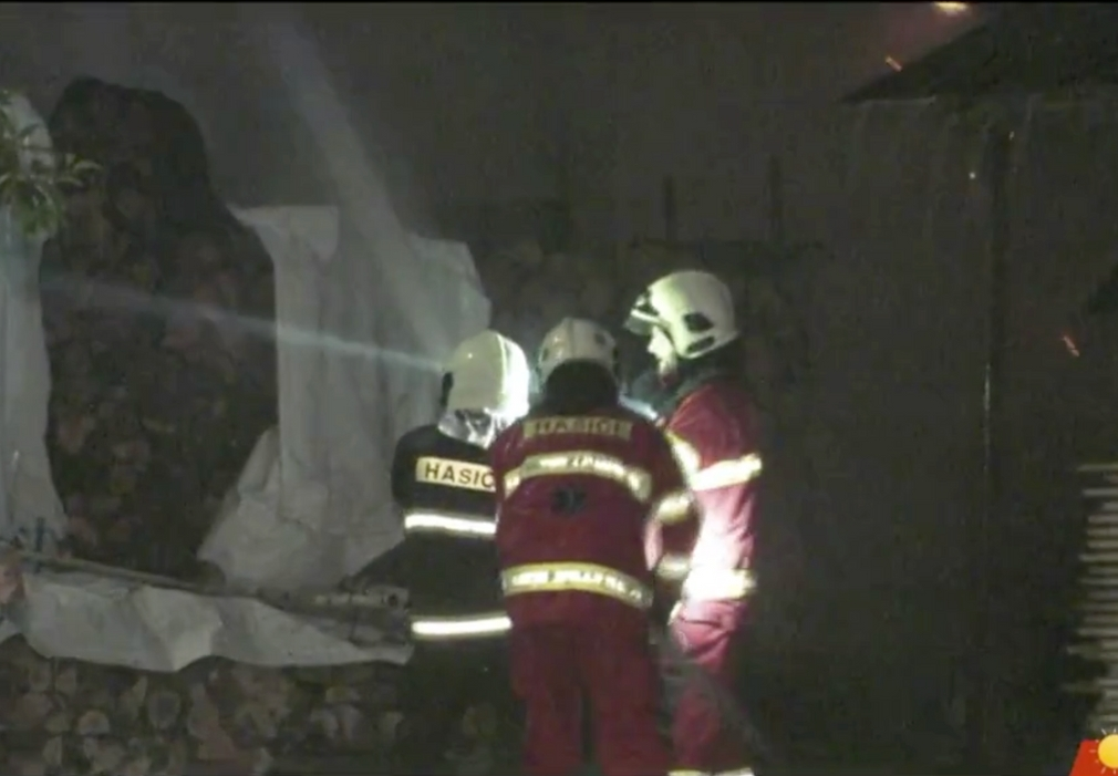 Požiar rodinného domu v obci Hrochoť