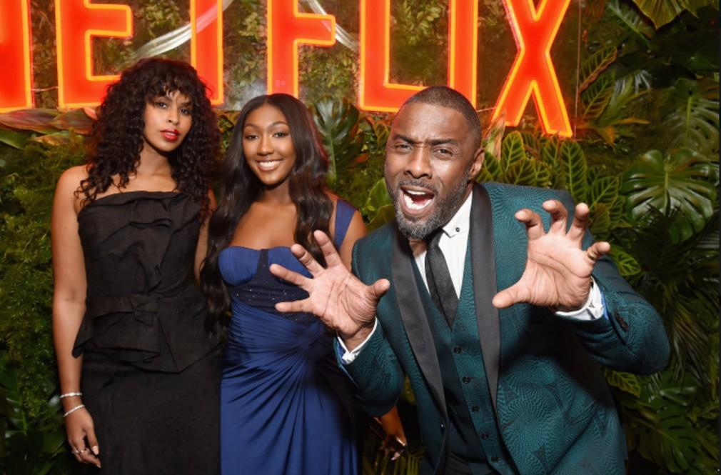 Idris Elba s dcérou Isan a snúbenicou Sabrinou Dhowre