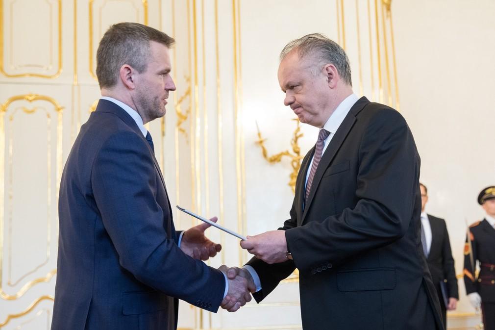 Andrej Kiska a Peter Pellegrini poverenie minister vnútra