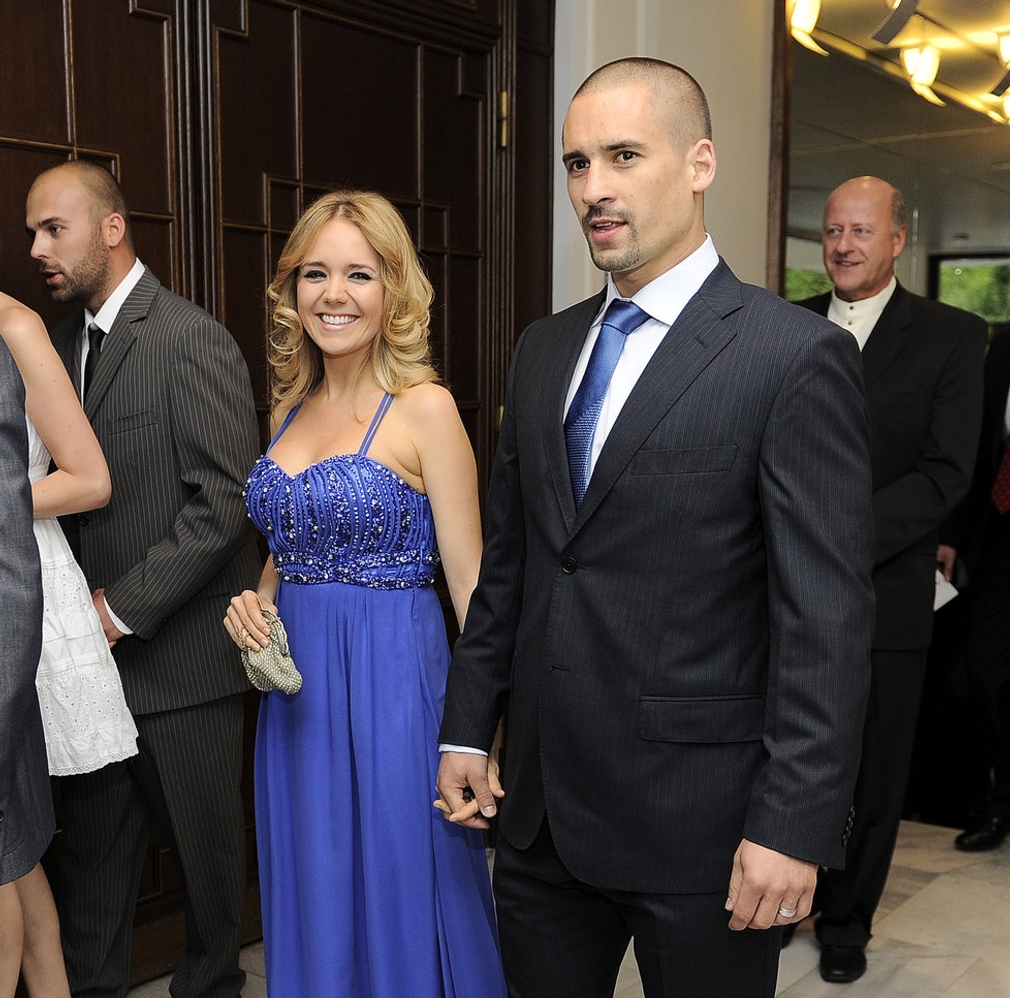 S manželom Tomášom Plekancom.