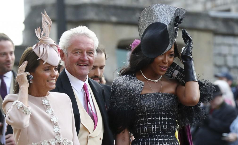 af54ae930948 Príchody hostí na kráľovskú svadbu. Naomi Campbell