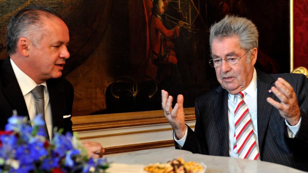 Andrej Kiska s rakúskym prezidentom Heinzom Fischerom