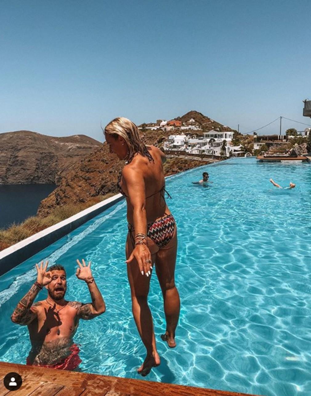 Dominika Cibulková a jej plavky