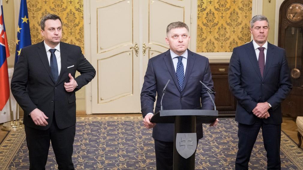 Andrej Danko, Robert Fico, Béla Bugár