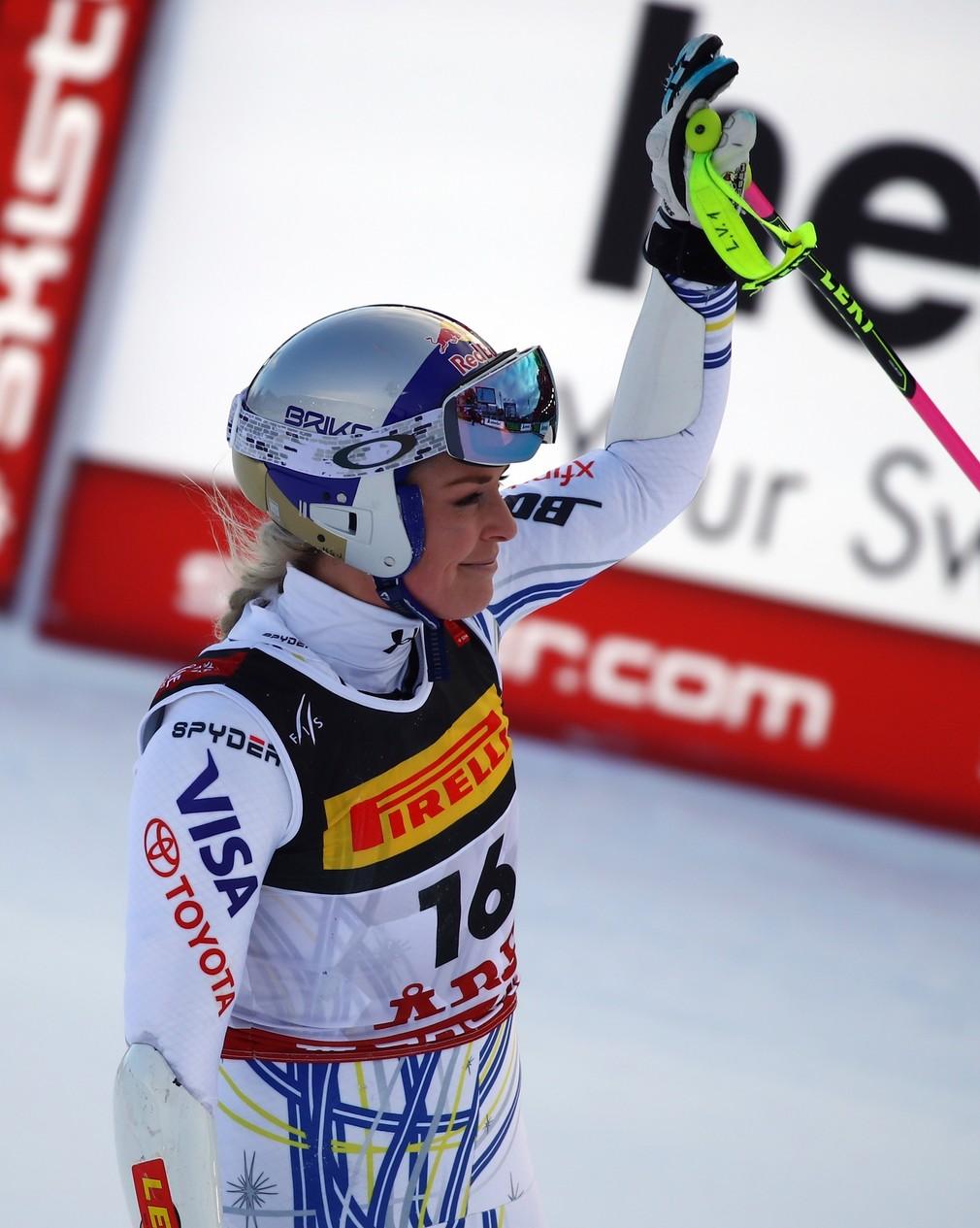 Lindsey Vonn pád v Super G vo švédskom Are