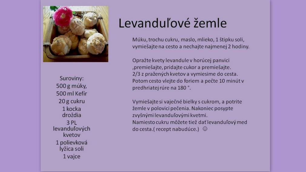 recept - Levanduľové žemle