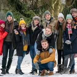 Tínedžeri z Nového života na chate