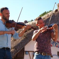 Nakrúcanie klipu k duetu Ondreja Kandráča a Davida Keya - Abraka Dabraka