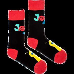 FUSAKLE - čierne ponožky pre dospelých