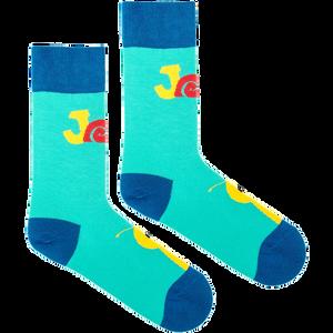 FUSAKLE - tyrkysové ponožky pre dospelých