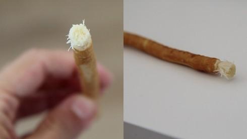 Takto vyzerá ekologická zubná kefka – koreň z dreviny arak.
