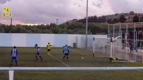 Grécko_Kréta_vlastný gól