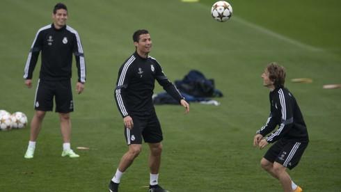 Real Madrid_tréning_Cristiano_James