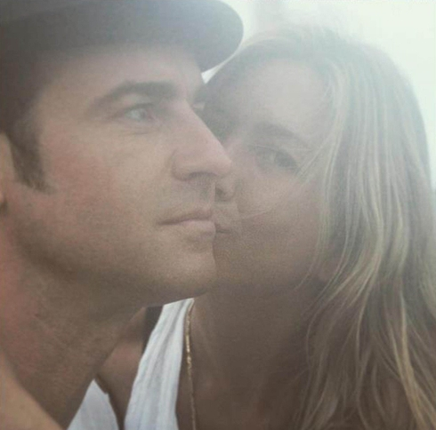 Jennifer Aniston, Justin Theroux - fotka z Instagramu