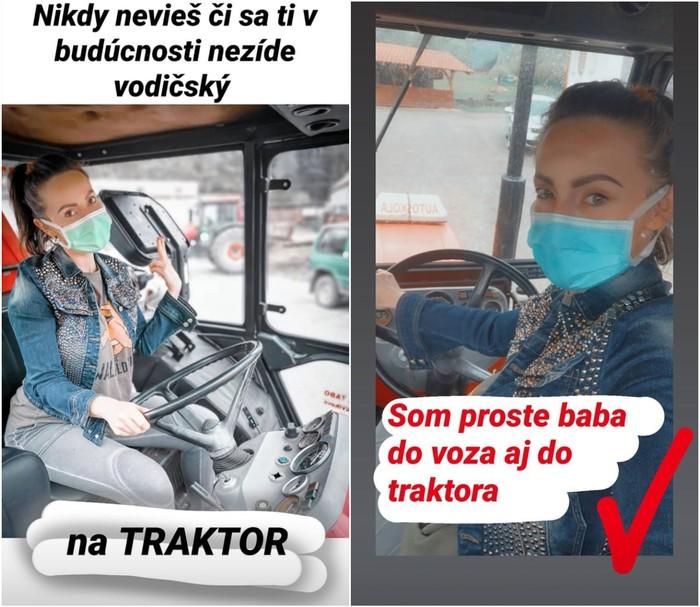 Zuzanita na traktore