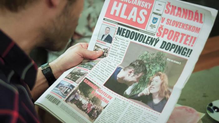 Nový život - Dušan a Lucia na titulke Trenčianskeho hlasu