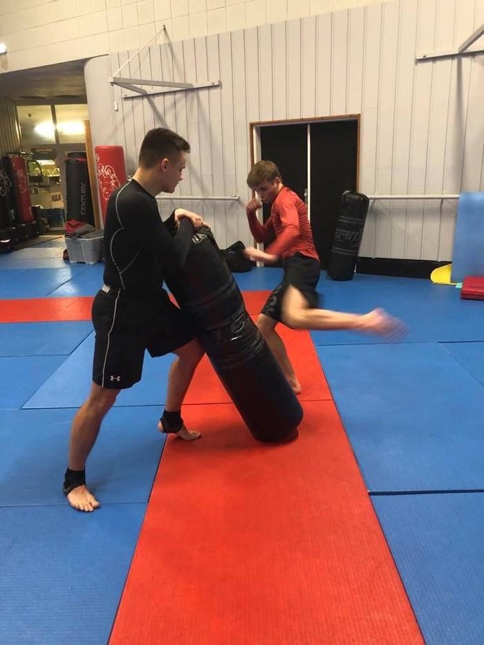 Max Bolf na tréningu boxu