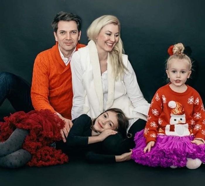 Marek Majeský s rodinou