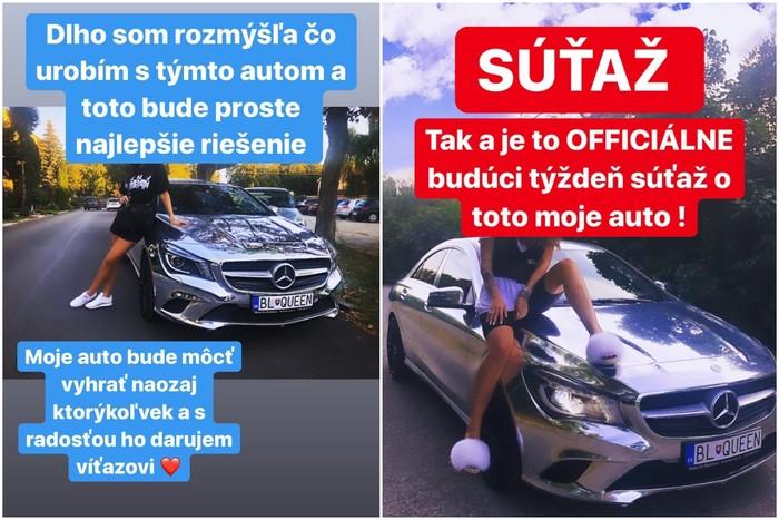 Zuzana Plačková venuje staré auto jednému zo svojich fanúšikov