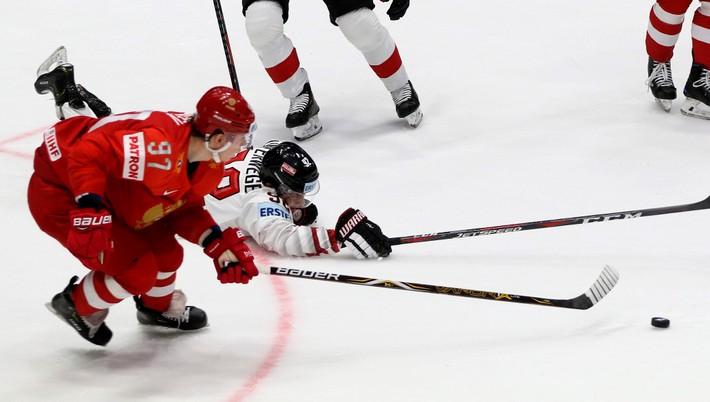 8575dfe2e0af0 Hokejisti Ruska zvíťazili nad hráčmi Rakúska 5:0 v nedeľňajšom stretnutí  základnej B-skupiny v Bratislave na 83. majstrovstvách sveta (10. - 26.  mája).