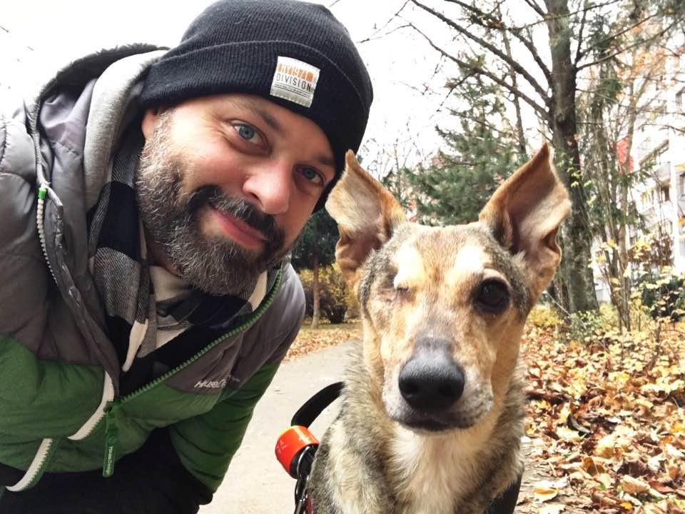 Martin Chynoranský a jeho pes